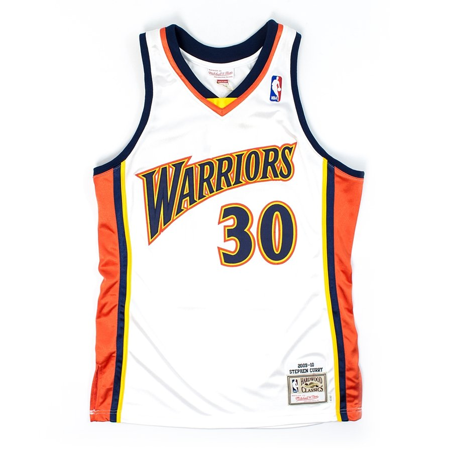 ca27b3db4ac Click to zoom  Mitchell and Ness authentic jersey HWC Golden State Warriors  Stephen Curry 2009-10 white