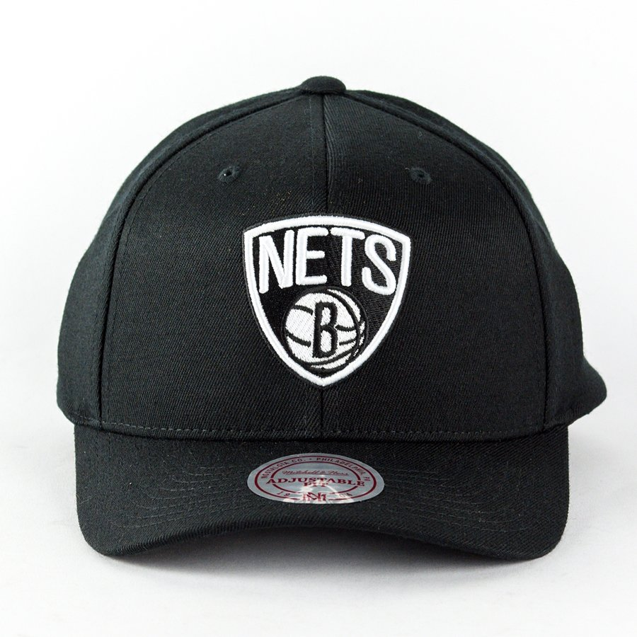 b6aea08d Mitchell and Ness dad cap Black and White Arch Brooklyn Nets black ...