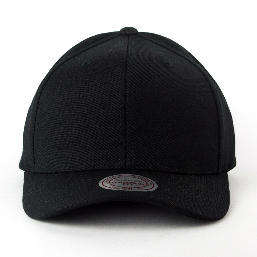 a4e12184a644c Mitchell and Ness dad cap Solid Colour Blank M N black Click to zoom ...