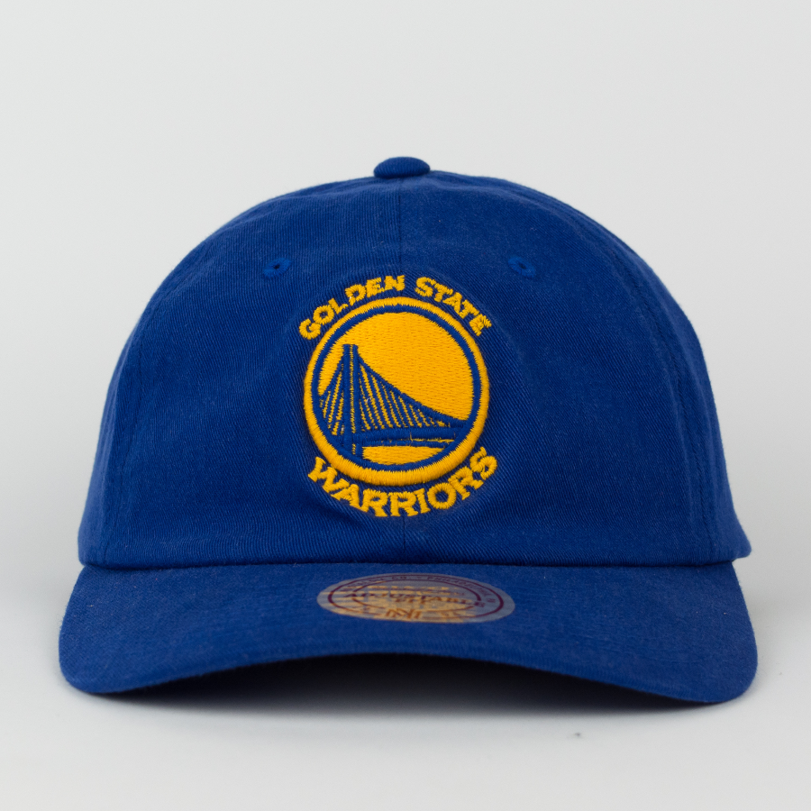 official photos 3b5df 1c74e Mitchell and Ness dad cap Washed Cotton Golden State Warriors blue Click to  zoom ...