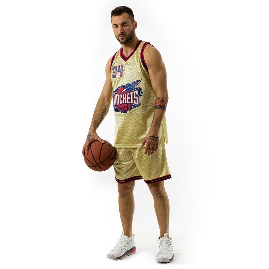 Click to zoom · Mitchell and Ness gold swingman jersey QS Houston Rockets  Hakkem Olajuwon gold ... 0179d95a8