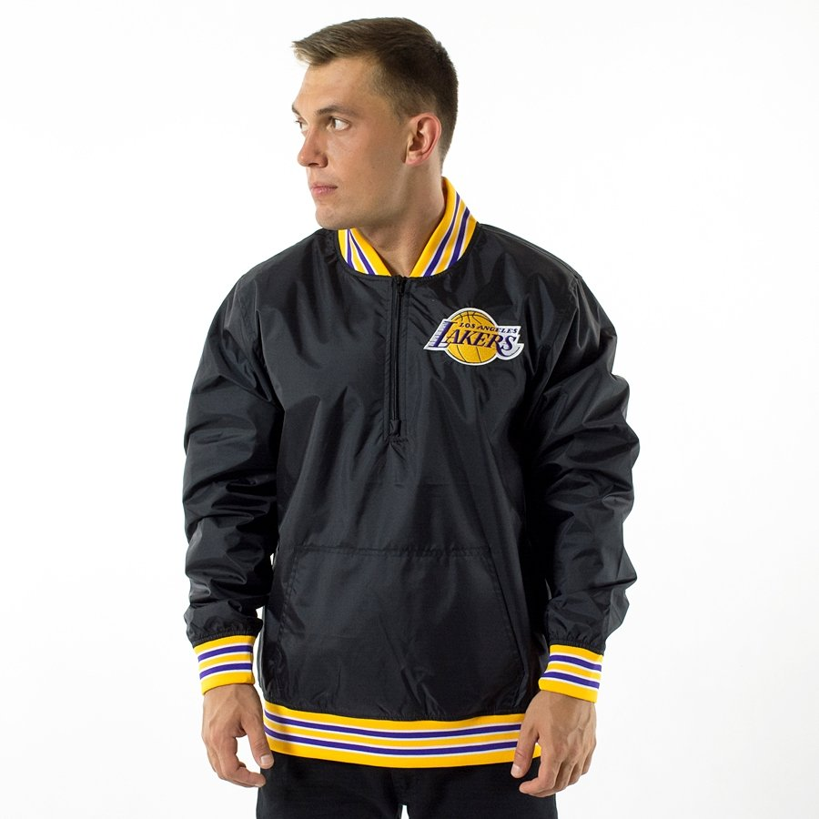 Mitchell and Ness jacket 1 4 Zip Pullover Los Angeles Lakers black ... 6c9b8e401