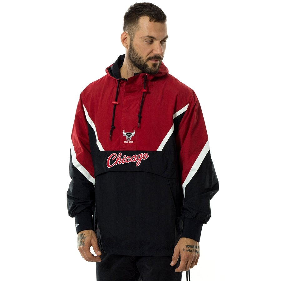 10ac3f6a4ce Mitchell and Ness jacket Half Zip Anorak Chicago Bulls red   white   black  Click to zoom ...