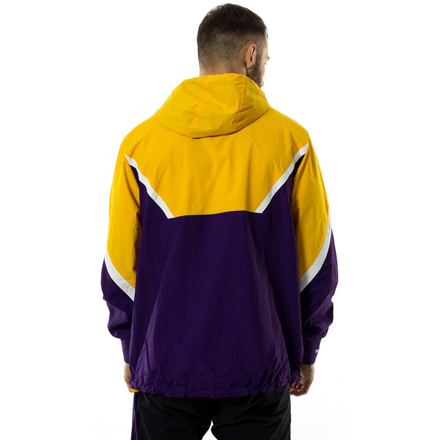 516806bfa9d Click to zoom · Mitchell and Ness jacket Half Zip Anorak Los Angeles Lakers  yellow   white ...