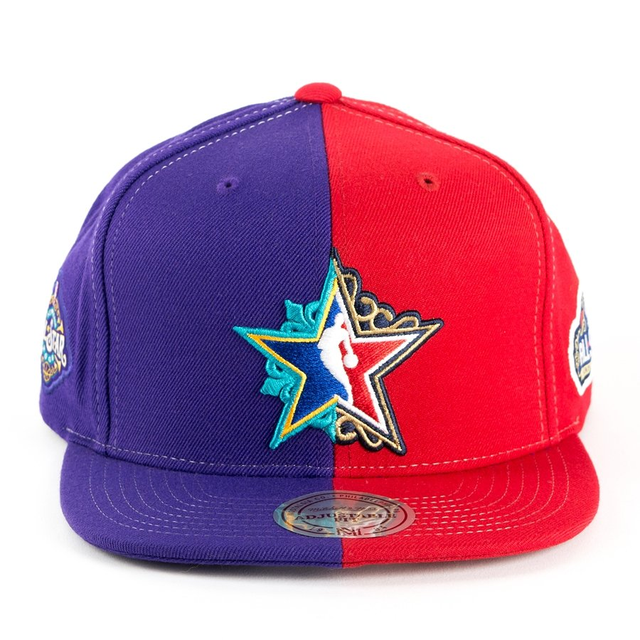 online retailer e34b5 bef6c Mitchell and Ness snapback All Star Game New Orleans 2017 red   blue 476VZ  Click to zoom ...