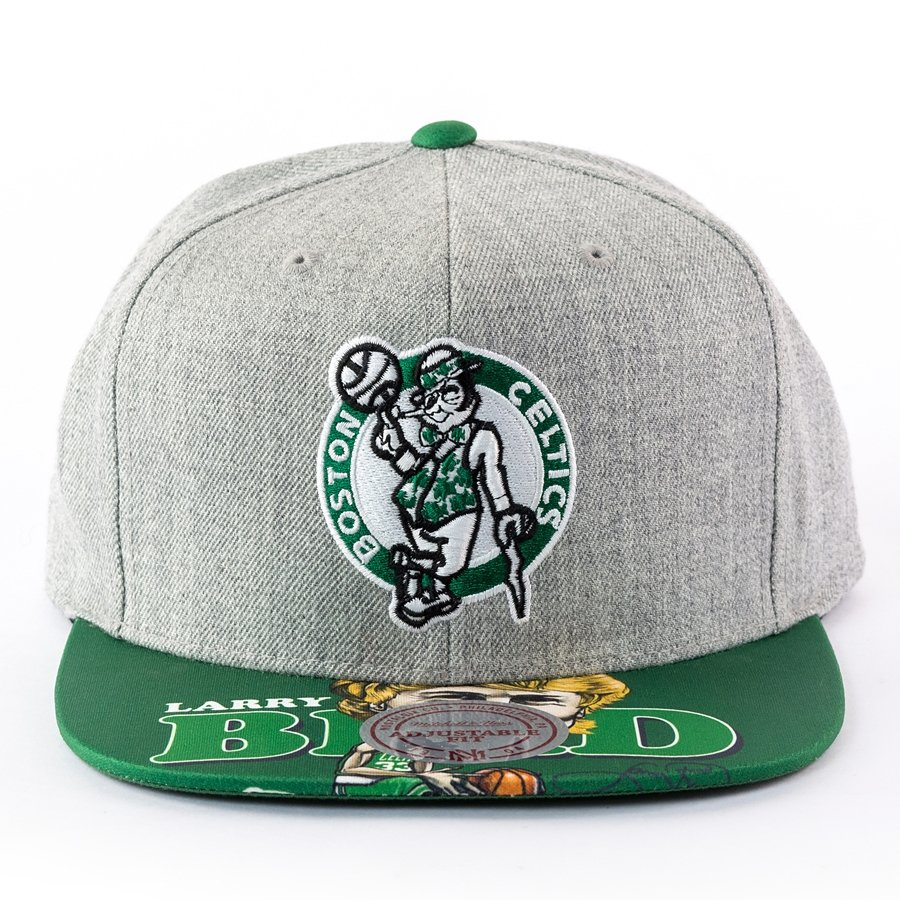 newest aa49b 8dd7f ... spain mitchell and ness snapback caricature larry bird boston celtics  grey click to zoom f0bf7 65c06