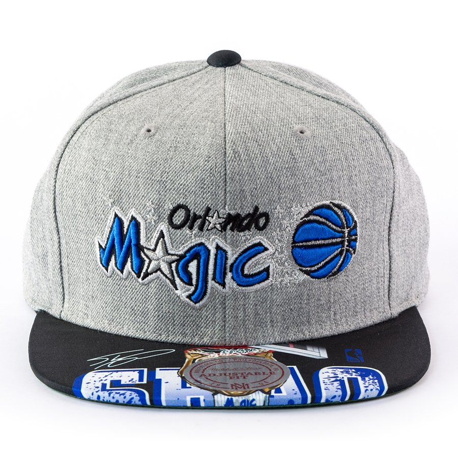 new concept 16f71 0a18f Mitchell and Ness snapback Caricature Shaquille O Neal Orlando Magic grey  Click to zoom ...