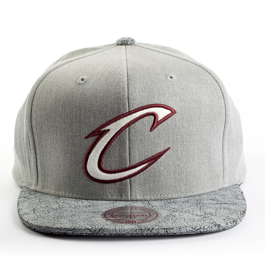 watch f5254 e88b5 ... nba snapback cap d73d5 7a467  where can i buy mitchell and ness snapback  cracked cleveland cavaliers grey click to zoom da8c7