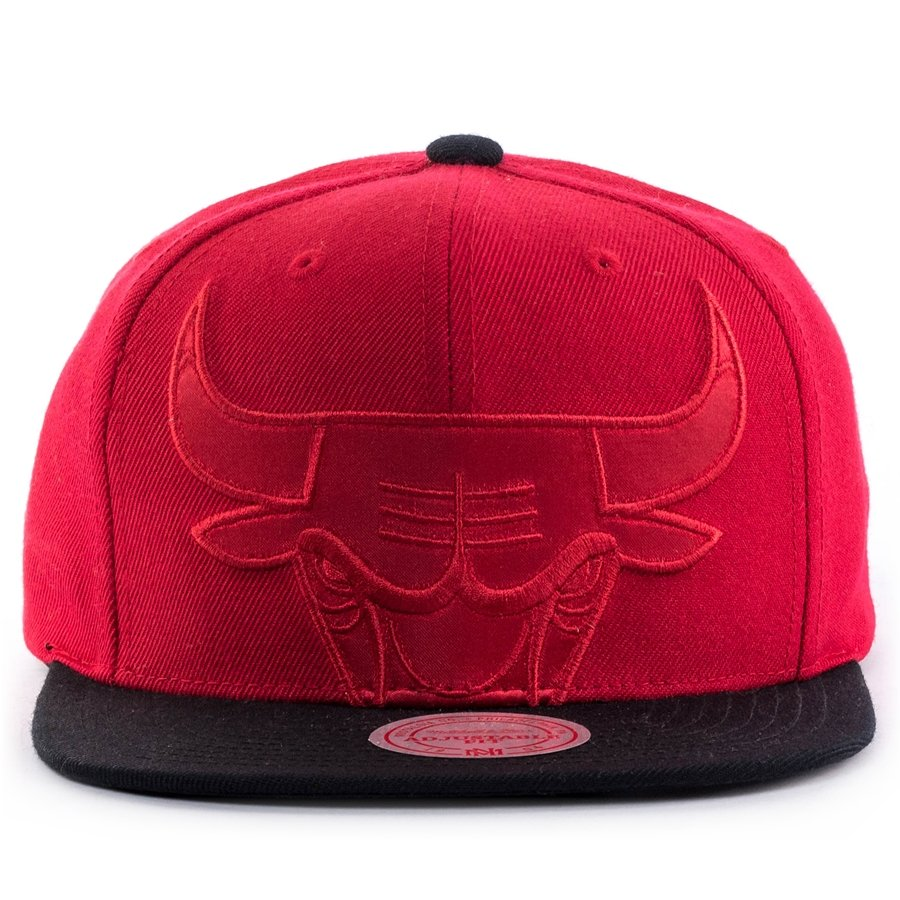 sports shoes 8396c 66891 Mitchell and Ness snapback Cropped Satin Chicago Bulls red Click to zoom ...