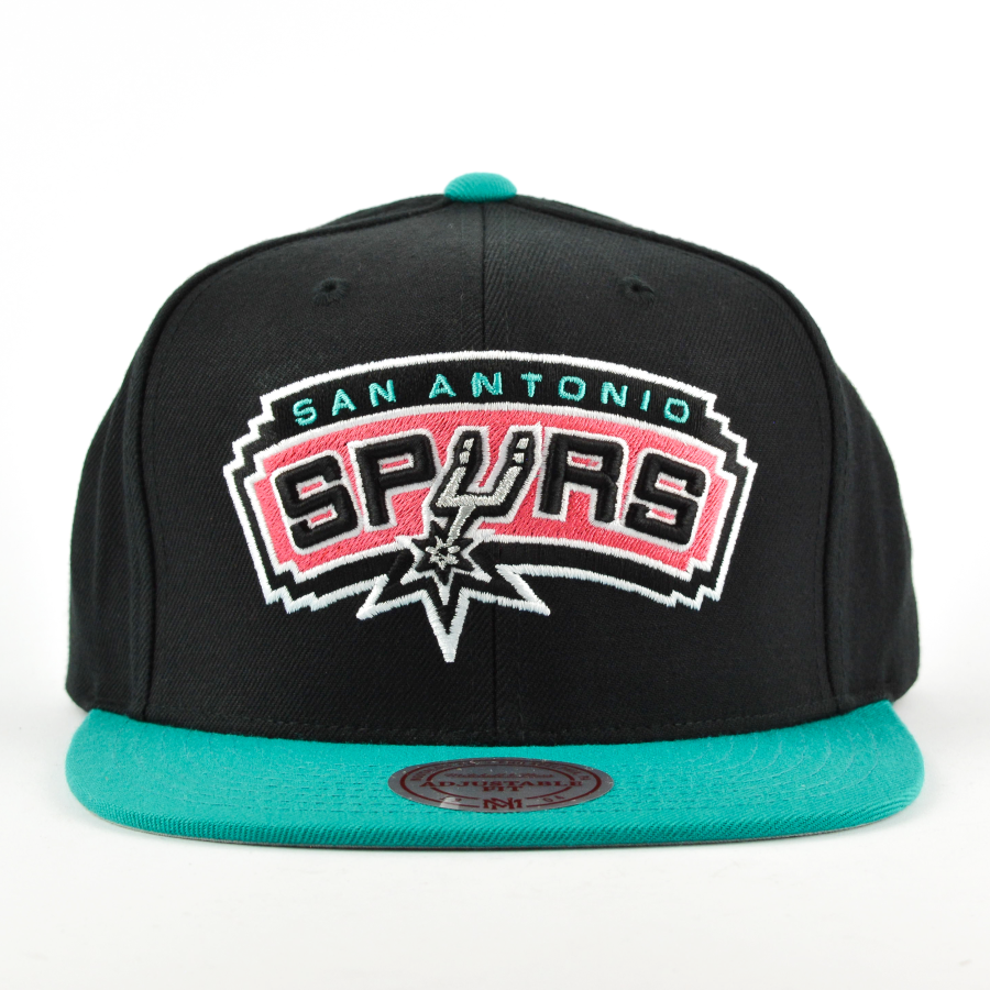 4b602a0938 Mitchell and Ness snapback Current Throwback San Antonio Spurs black ...