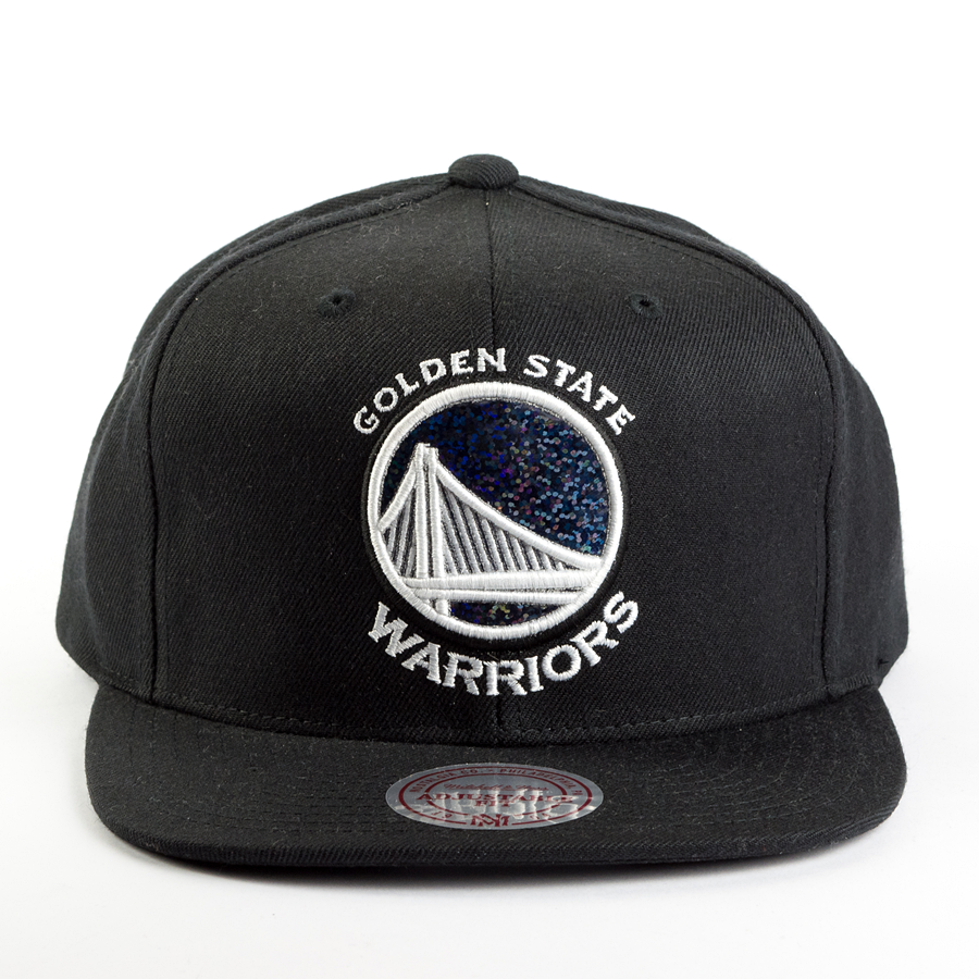 quality design b45bd 558ed Mitchell and Ness snapback Dark Hologram Golden State Warriors black Click  to zoom ...