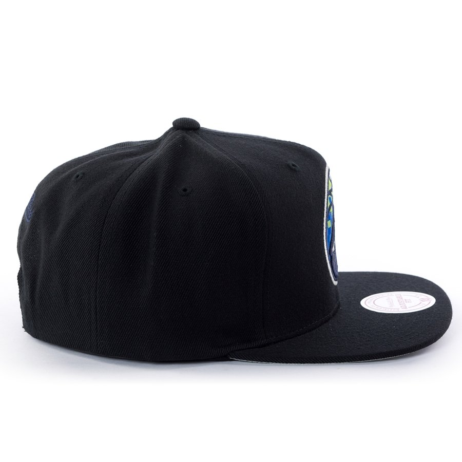 official photos 9c319 d8c85 Click to zoom  Mitchell and Ness snapback Easy Three Digital XL Minnesota  Timberwolves black