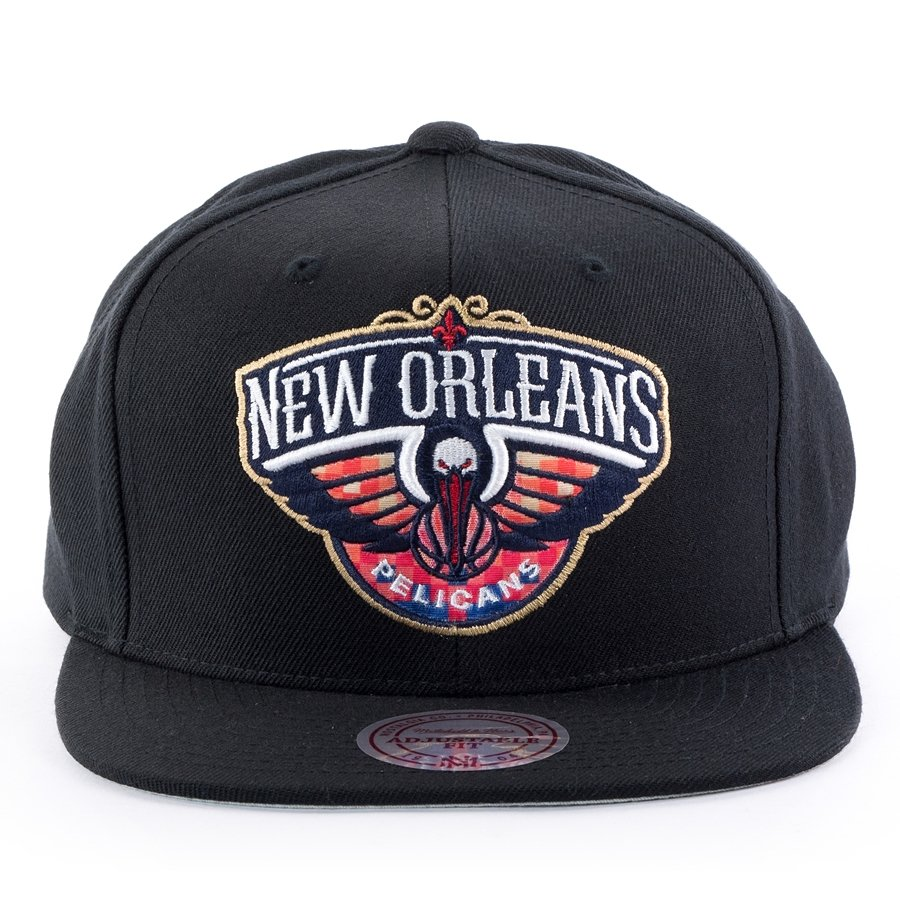 buy popular 61ad6 0b03e Mitchell and Ness snapback Easy Three Digital XL New Orleans Pelicans black  Click to zoom ...
