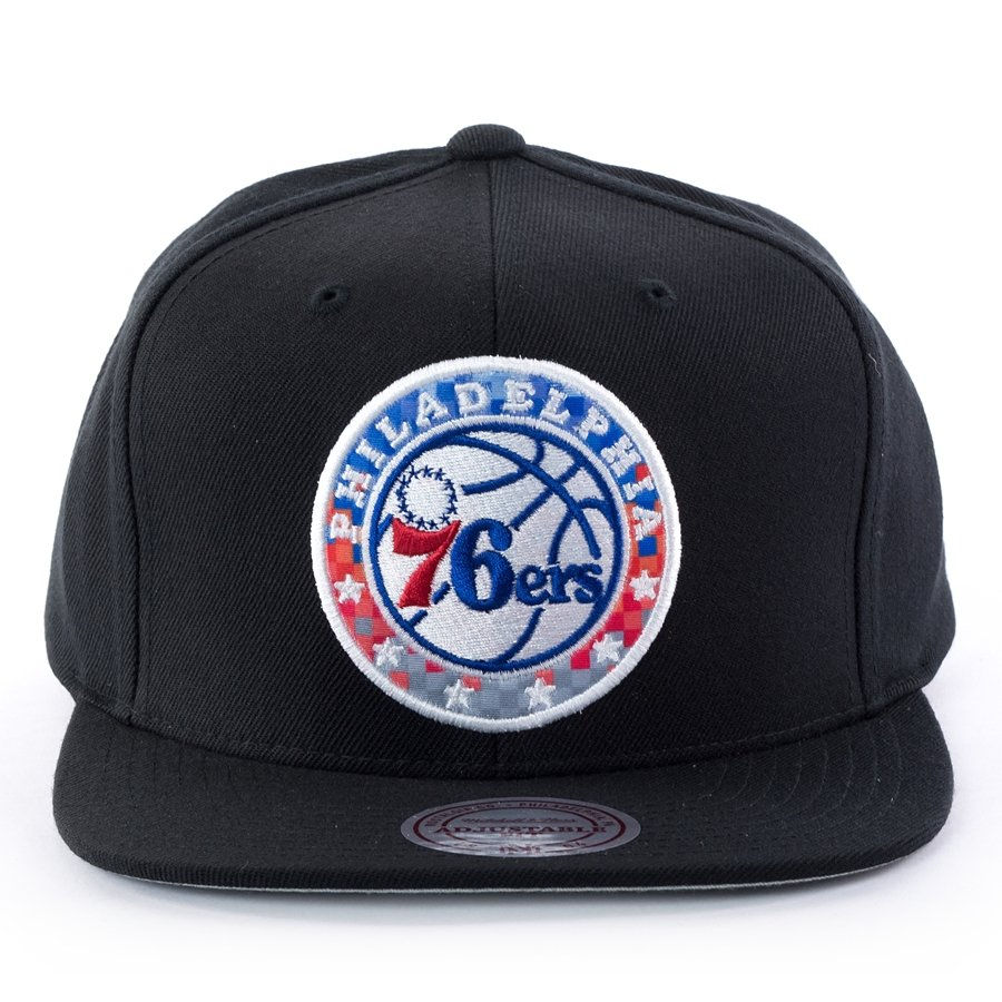 21085f3ad83 Mitchell and Ness snapback Easy Three Digital XL Philadelphia 76ers black  Click to zoom ...