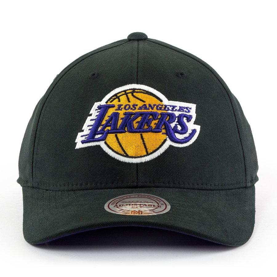 save off 8b1c0 16696 Mitchell and Ness snapback Flexfit 110 Low Pro Los Angeles Lakers black  Click to zoom ...