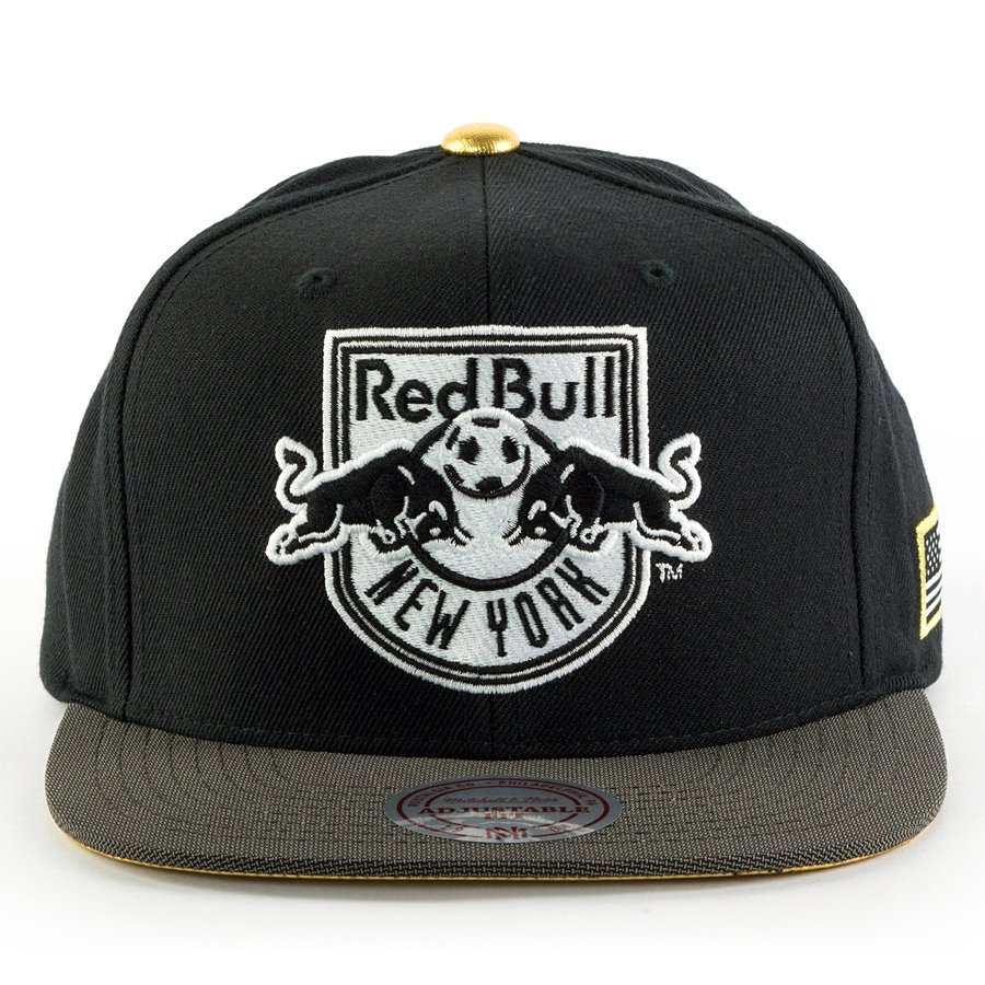 sale retailer f5e84 98993 Mitchell and Ness snapback Gold Tip New York Red Bulls black   dark grey    gold Click to zoom ...
