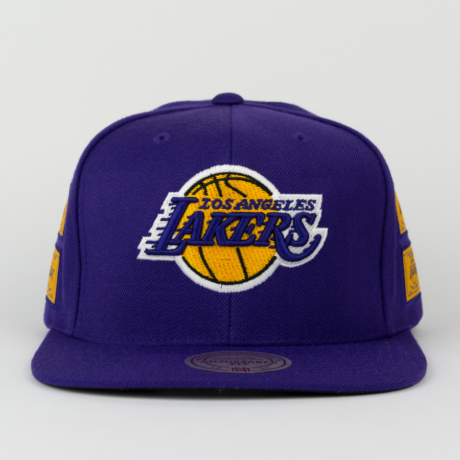 c31ad88e Mitchell and Ness snapback Los Angeles Lakers Championship Pack 5 Titles  purple (VP12Z)