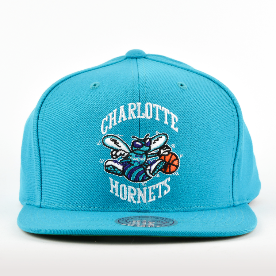 quality design 3ef2f ad08b Mitchell and Ness snapback Solid Team Colour SB Charlotte Hornets teal Click  to zoom ...
