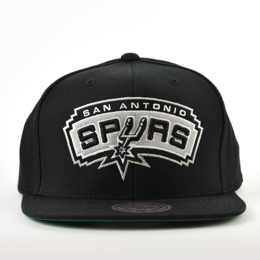 newest 11089 acce2 Mitchell and Ness snapback Solid Team Colour SB San Antonio Spurs black  Click to zoom ...
