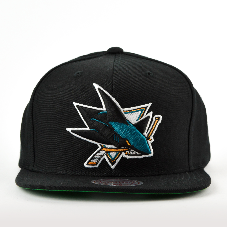 Mitchell and Ness snapback Solid Team Colour SB San Jose Sharks ... 53e82cba7e
