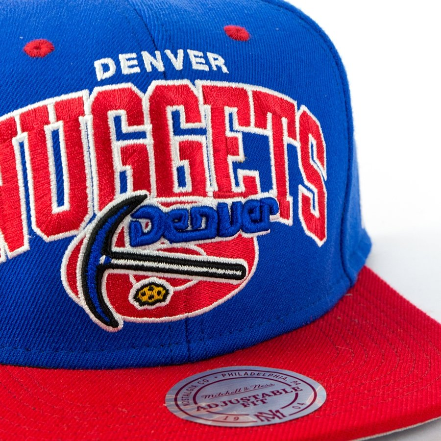 Denver Nuggets: Mitchell And Ness Snapback Team Arch Denver Nuggets Blue