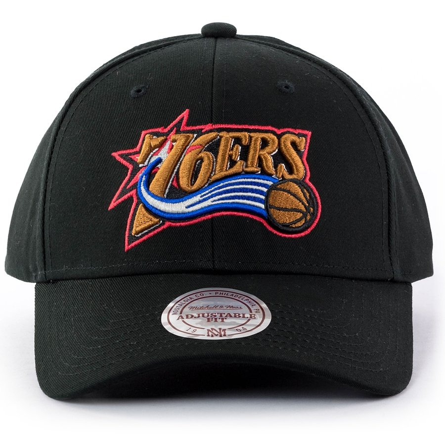 c3b040fd09b Mitchell and Ness snapback Team Logo Low Pro Philadelphia 76ers black Click  to zoom ...