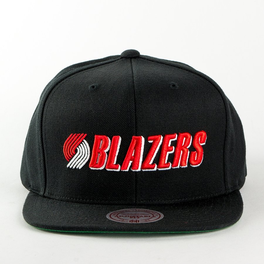 new concept 5937c 51ea3 Mitchell and Ness snapback Wool Solid Portland Trail Blazers black Click to  zoom ...