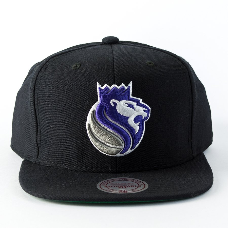 the latest b105b 1972d Mitchell and Ness snapback Wool Solid Sacramento Kings black Click to zoom  ...