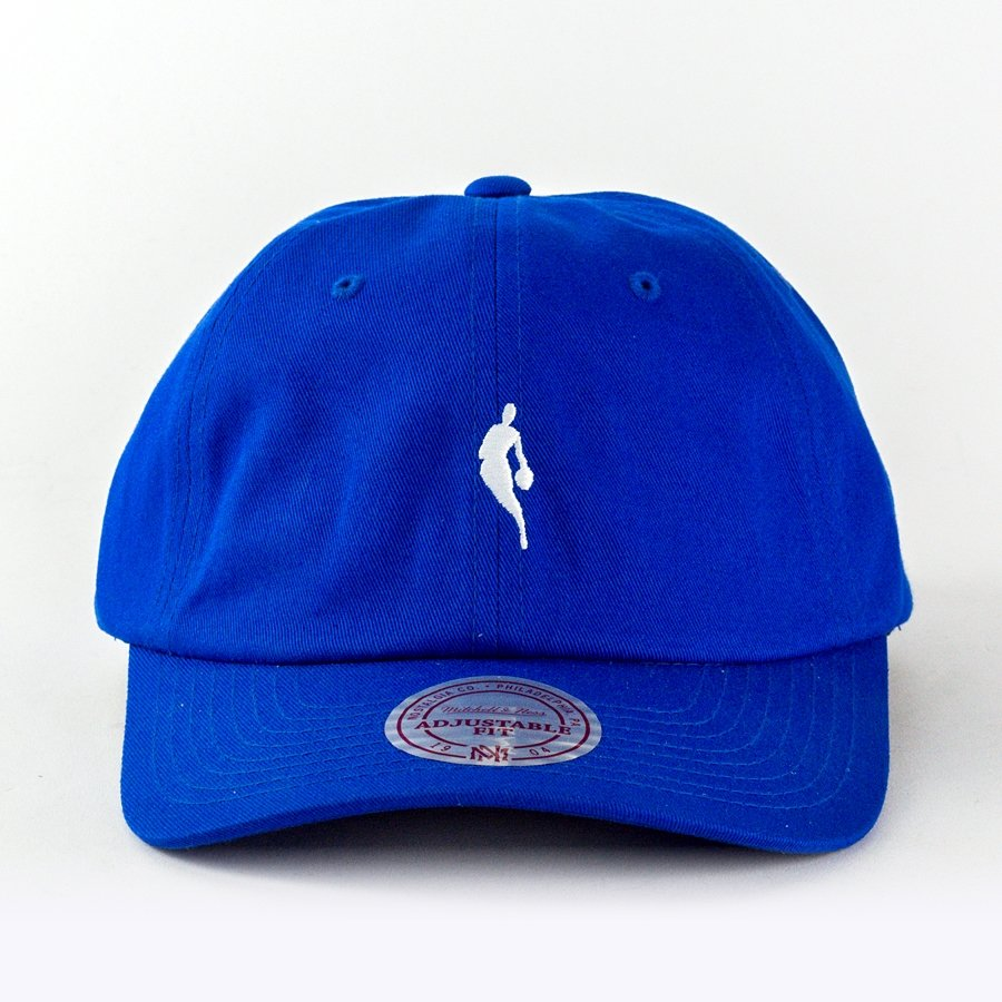 572a9bda Mitchell and Ness strapback Little Dribbler Dad Hat royal / white ...