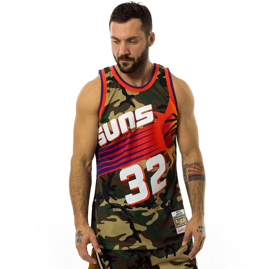 wholesale dealer 54e94 1825b Mitchell and Ness swingman jersey Camo QS Phoenix Suns - Jason Kidd  woodland camo