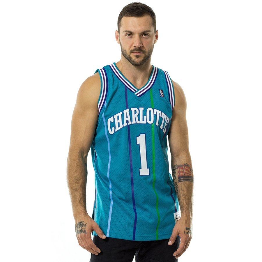 premium selection b5168 31de4 Mitchell and Ness swingman jersey Charlotte Hornets Muggsy Bogues 1992-93  teal