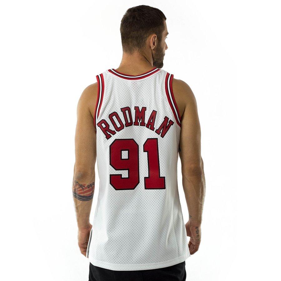 2ffa10d82fa Mitchell and Ness swingman jersey Chicago Bulls Dennis Rodman 1997-98 white  Click to zoom ...