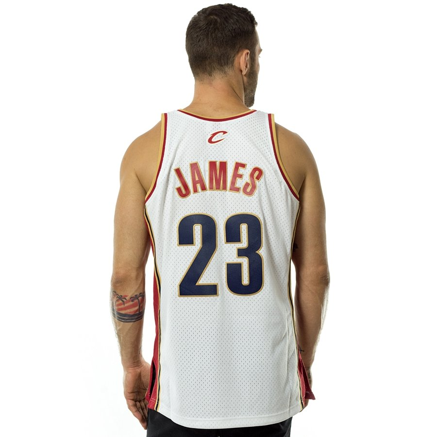 02220e7509df ... swingman jersey Cleveland Cavaliers LeBron James 2003-04 white Click to  zoom ...