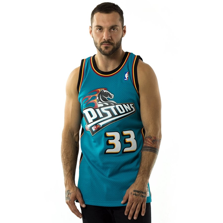 6844951be949 Mitchell and Ness swingman jersey Detroit Pistons Grant Hill 1998-99 teal  Click to zoom ...