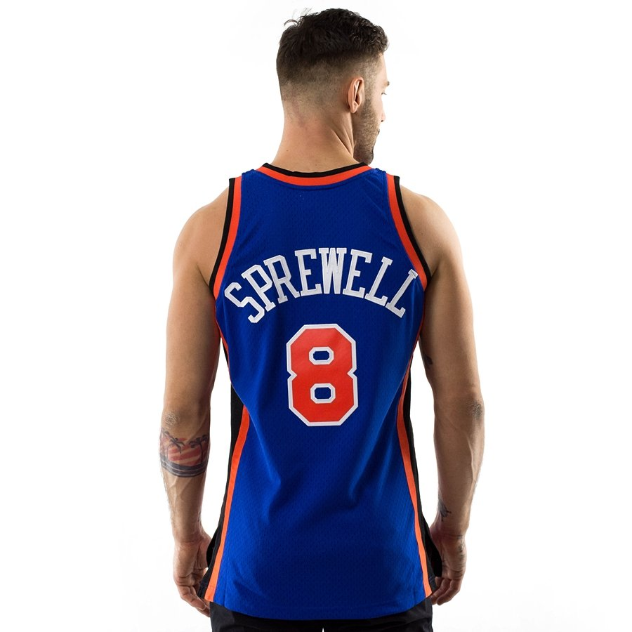 buy popular a956b 22e54 Mitchell and Ness swingman jersey New York Knicks Latrell Sprewell 1998-99  royal