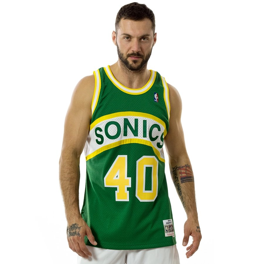 4be113c4cb8 Click to zoom  Mitchell and Ness swingman jersey Seatlle SuperSonics ...