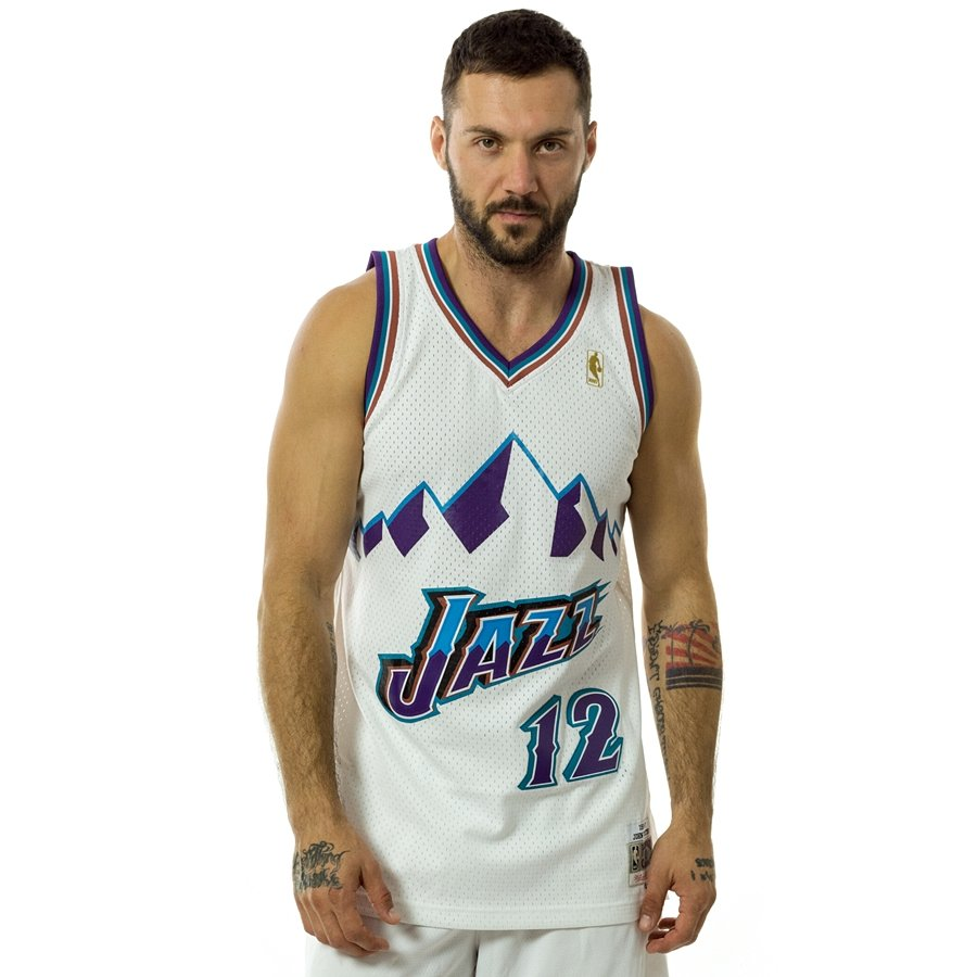 detailed pictures 31045 4435e Mitchell and Ness swingman jersey Utah Jazz John Stockton 1996-97 white