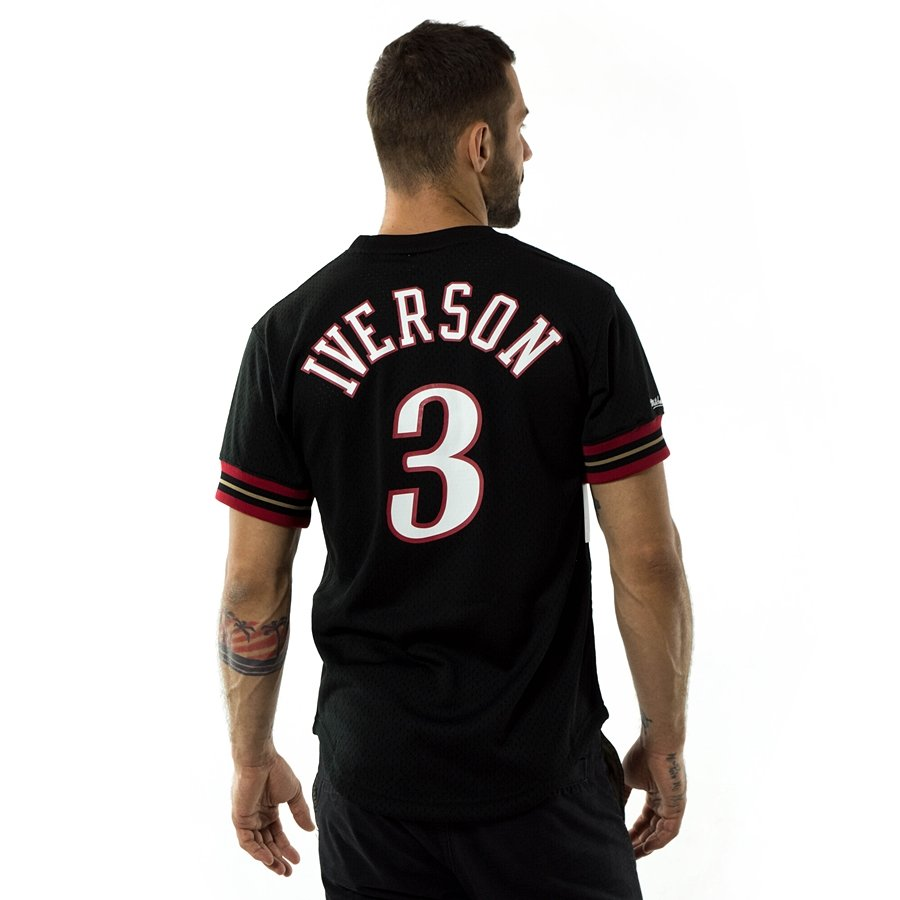 ffbe3b9cdcc Click to zoom; Mitchell and Ness t-shirt Iverson #3 Player Name & Number  Mesh Philadelphia 76ers Click to zoom ...