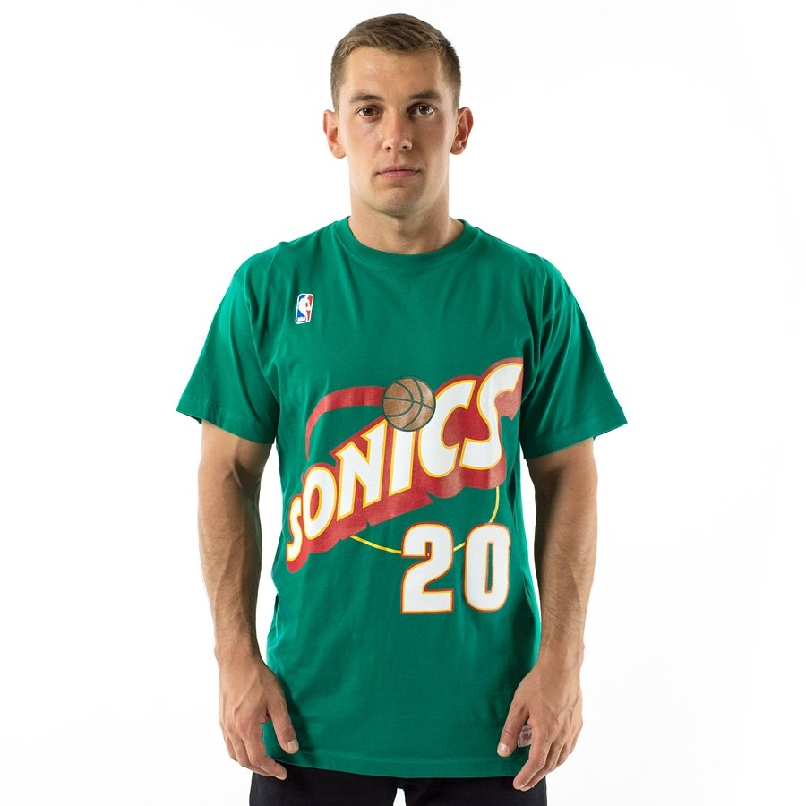 new products 1b1b9 dd536 Mitchell and Ness t-shirt Player Name & Number Traditional Gary Payton  Seattle SuperSonics green