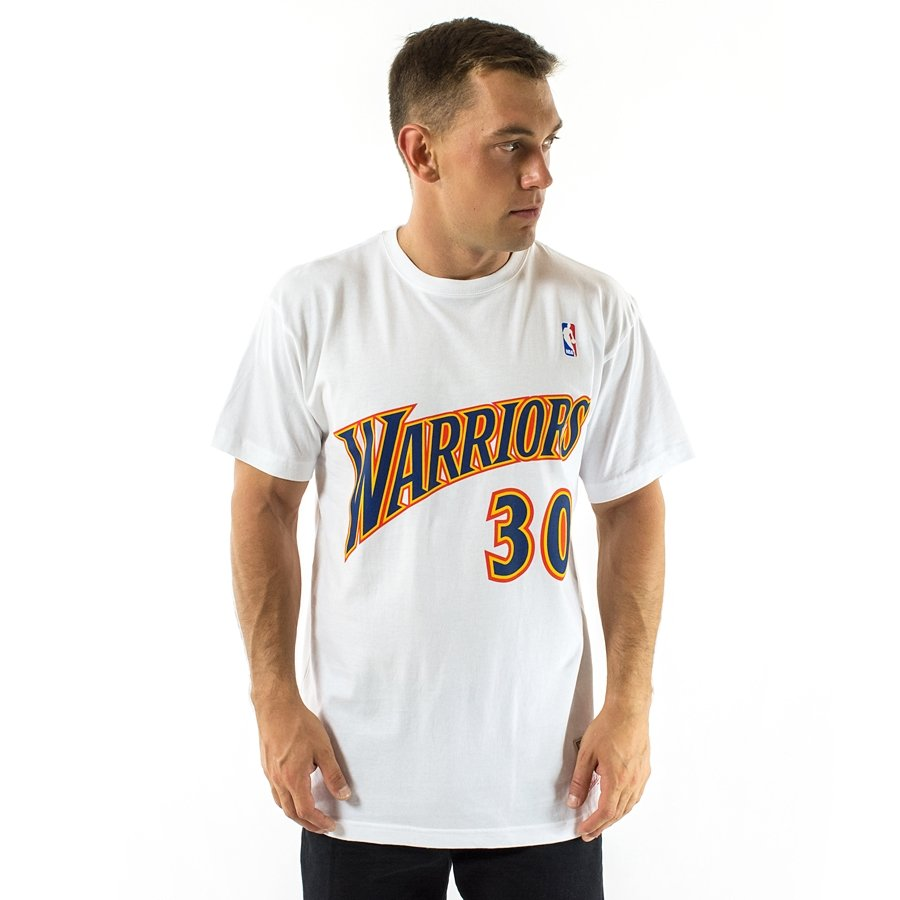 half off bf5df d7f4d Mitchell and Ness t-shirt Player Name & Number Traditional Stephen Curry  Golden State Warriors white