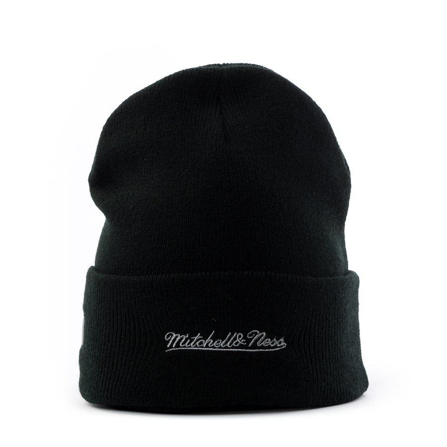 616544ff3d3e1b Mitchell and Ness wintercap HWC Reflective Logo Knit Boston Celtics black  Click to zoom ...