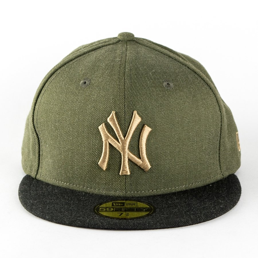 3ab76e6ca33e1 New Era fitted cap MLB Heather Contrast New York Yankees olive   black  59FIFTY Click to zoom ...