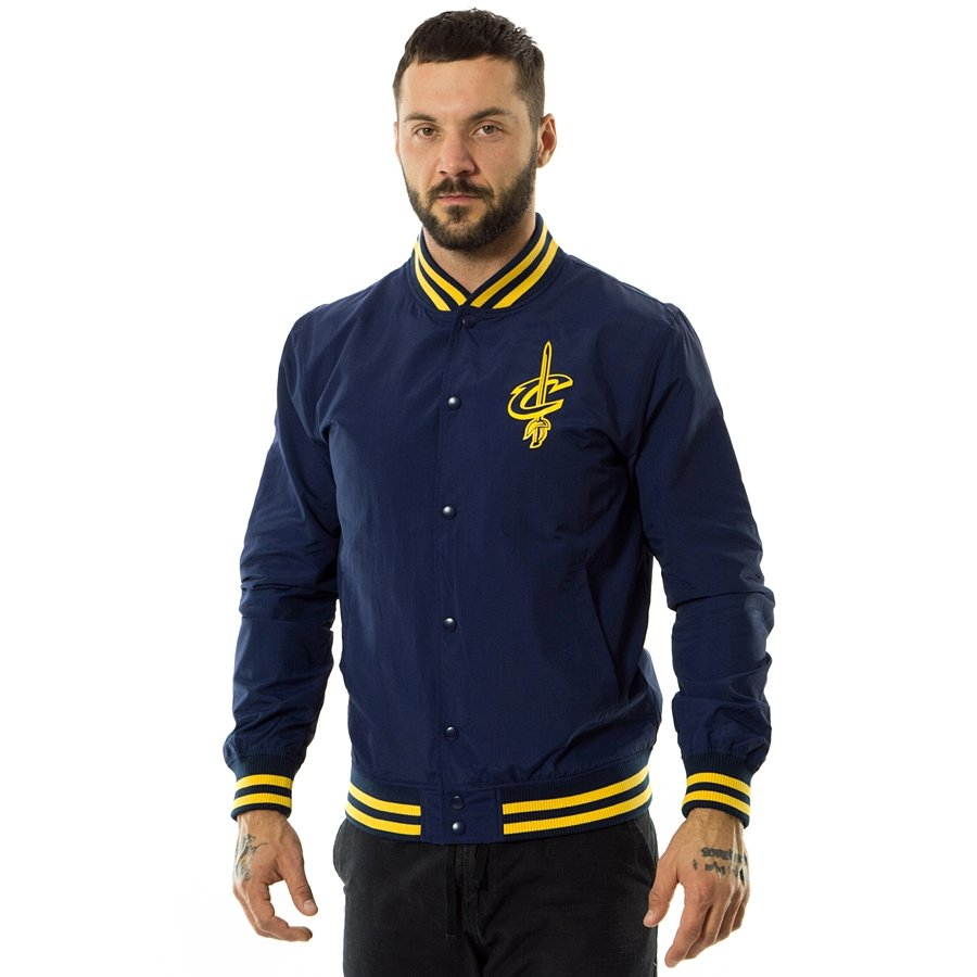962b51c57da New Era jacket NBA Team Pop Logo Varsity Cleveland Cavaliers navy Click to  zoom ...