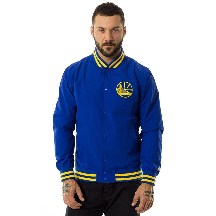 59f90b7bd29 New Era jacket NBA Team Pop Logo Varsity Golden State Warriors blue Click  to zoom ...