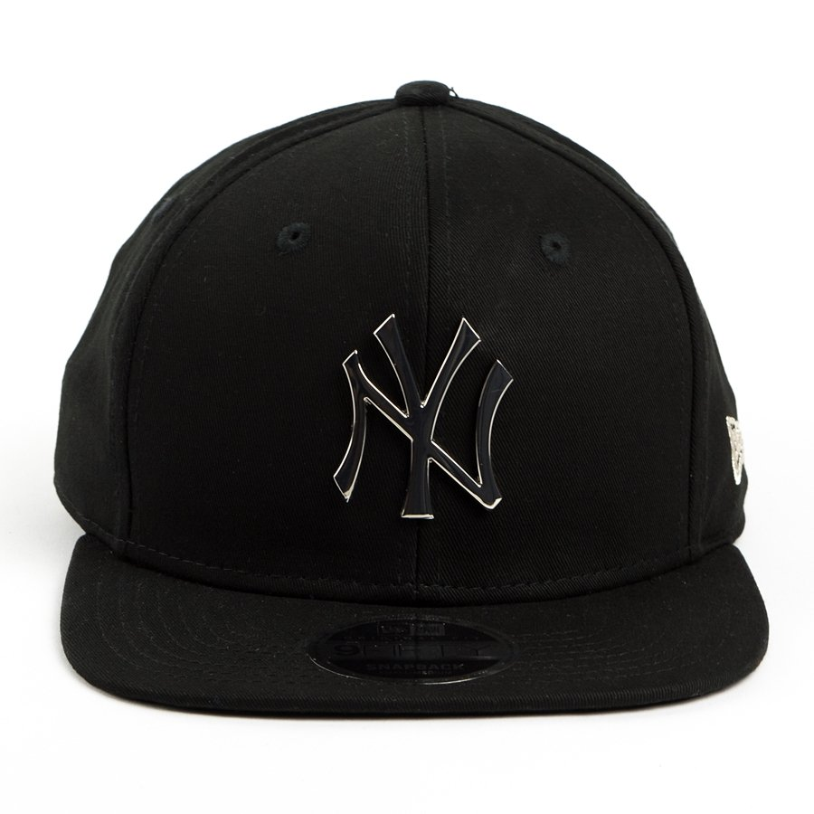 New Era Snapback Metal Badge New York Yankees Black 9fifty