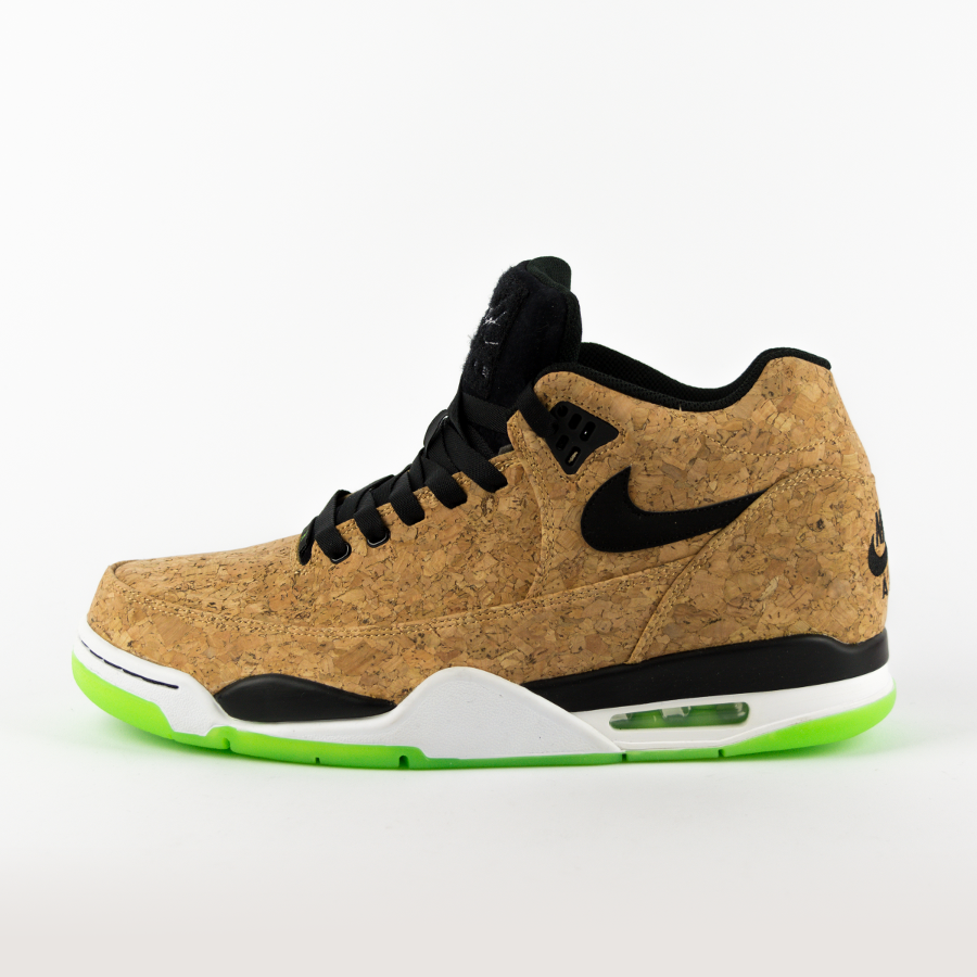 362bc68320c Nike Air Flight Squad Cork natural   black - voltage green - white (748281-  Click to zoom ...