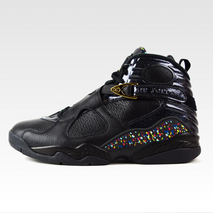 3d2156b7153 Nike Air Jordan VIII Retro Confetti black / metallic gold ...