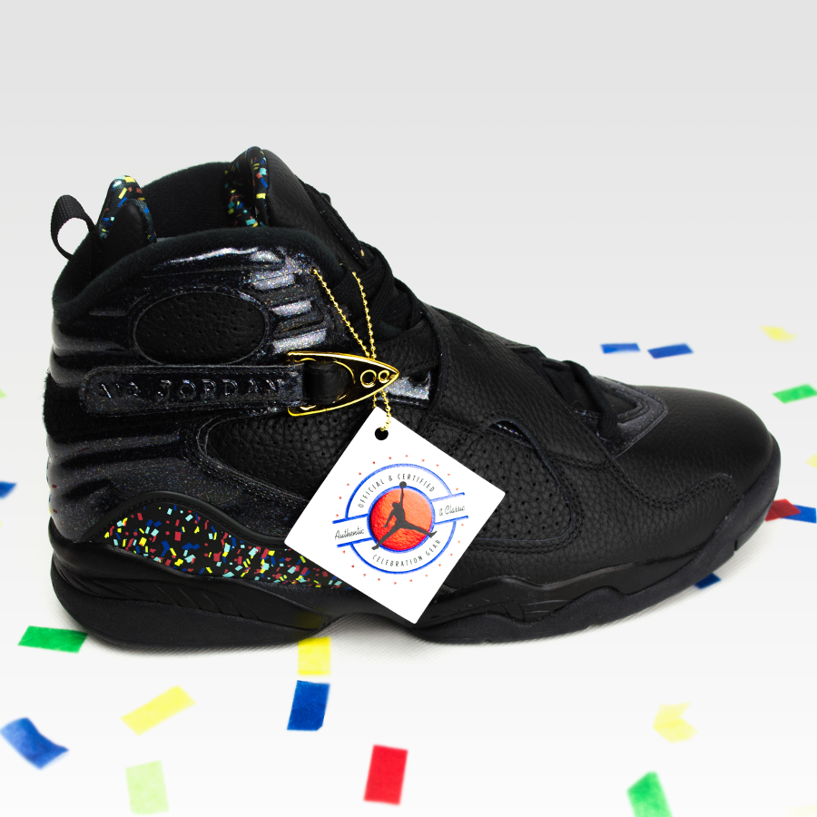 21a888e2c09 Click to zoom · Nike Air Jordan VIII Retro Confetti black   metallic gold -  anthracite ...