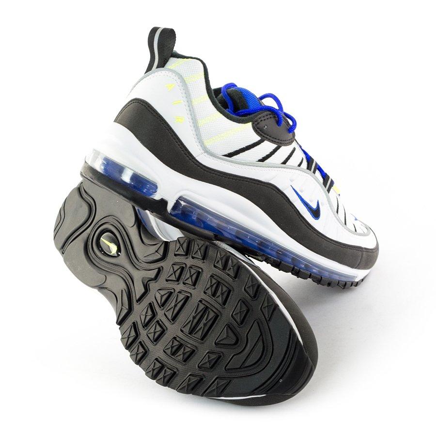 Nike Air Max 98 WhiteBlack Blue 640744 103