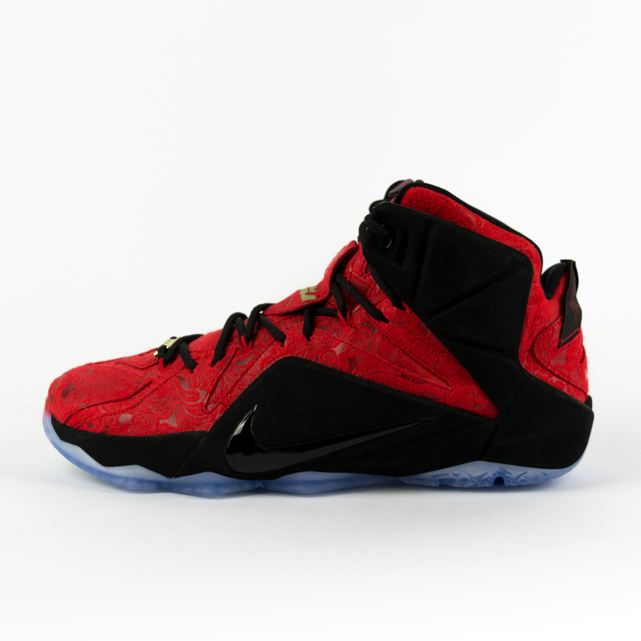 san francisco b2031 94f99 Click to zoom  Nike Lebron XII EXT Red Paisley Red   University Red-Black -  Metallic Gold (
